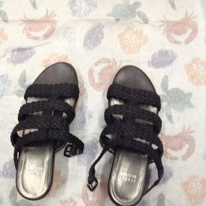 STUART WEITZMAN WEDGED SANDALS VERY FAIRLY USED